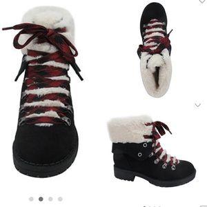 Size 7.5 & 8.5 | Pop | hiking booties | faux fur